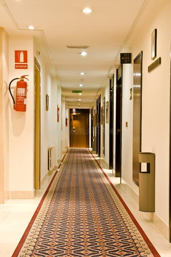 Corredor do hotel foto de stock