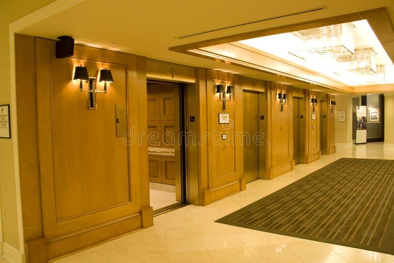 Corredor do hotel de luxo imagens de stock