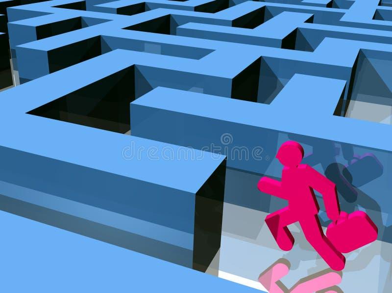 Corredor do labirinto imagens de stock