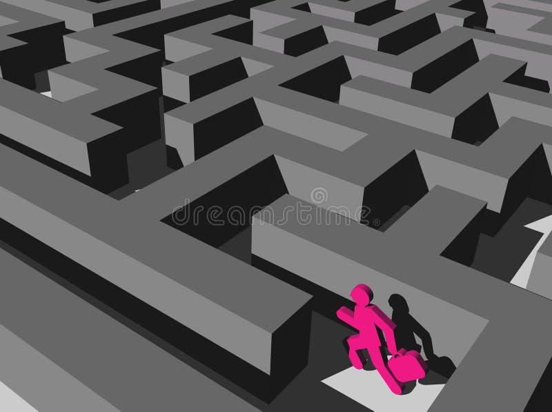 Corredor do labirinto imagens de stock royalty free
