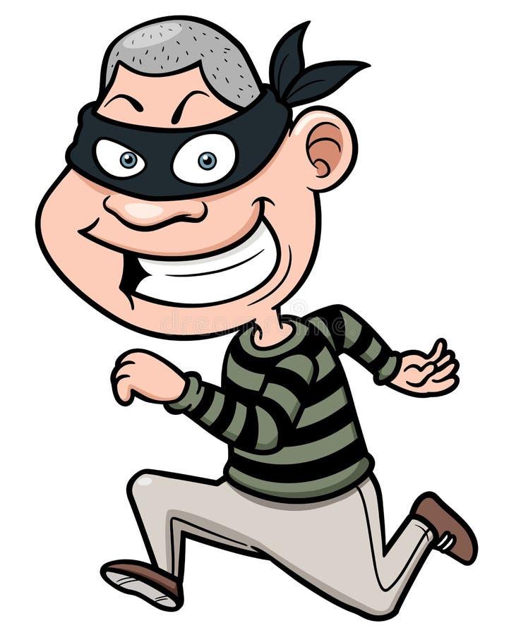Corredor do ladrão dos desenhos animados ilustração stock