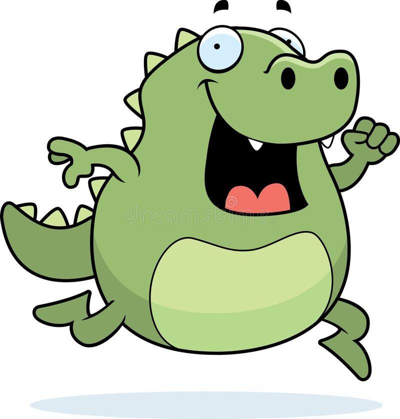 Corredor do lagarto ilustração royalty free
