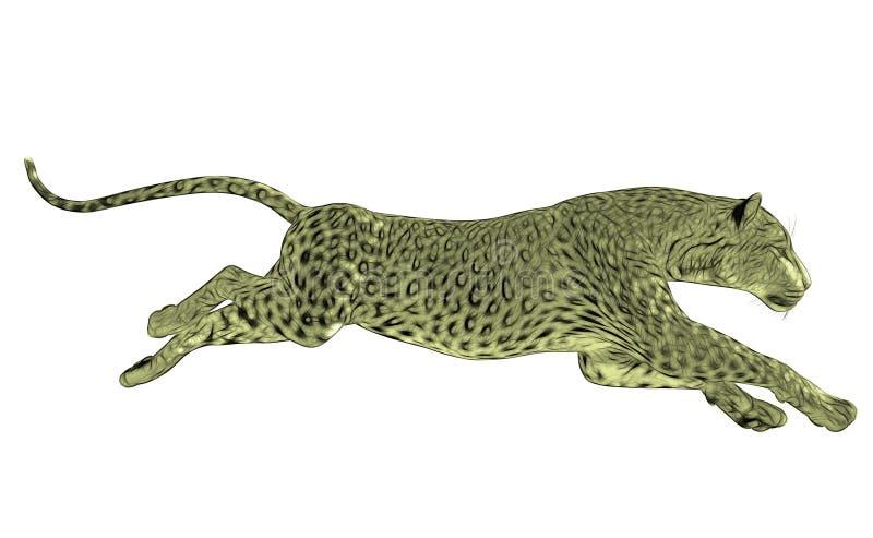 Corredor do leopardo isolado ilustração stock