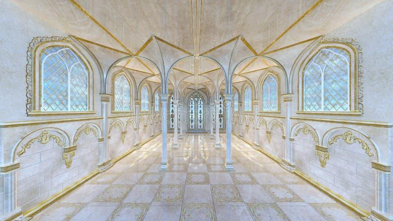 Corredor do palácio ilustração royalty free