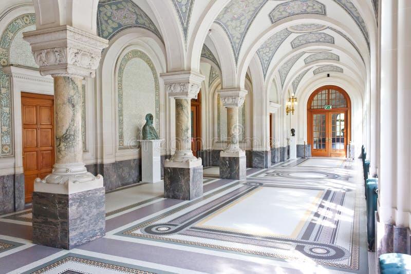 Corredor do palácio da paz imagem de stock