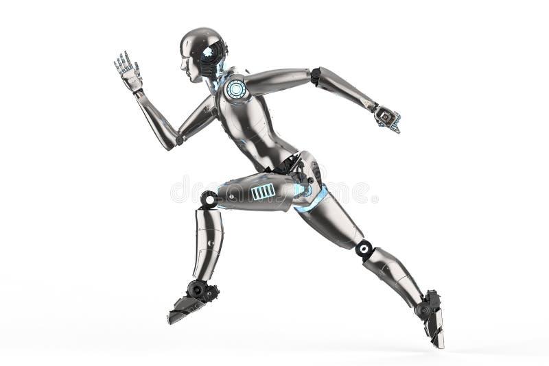 Corredor do robô do Humanoid ilustração royalty free