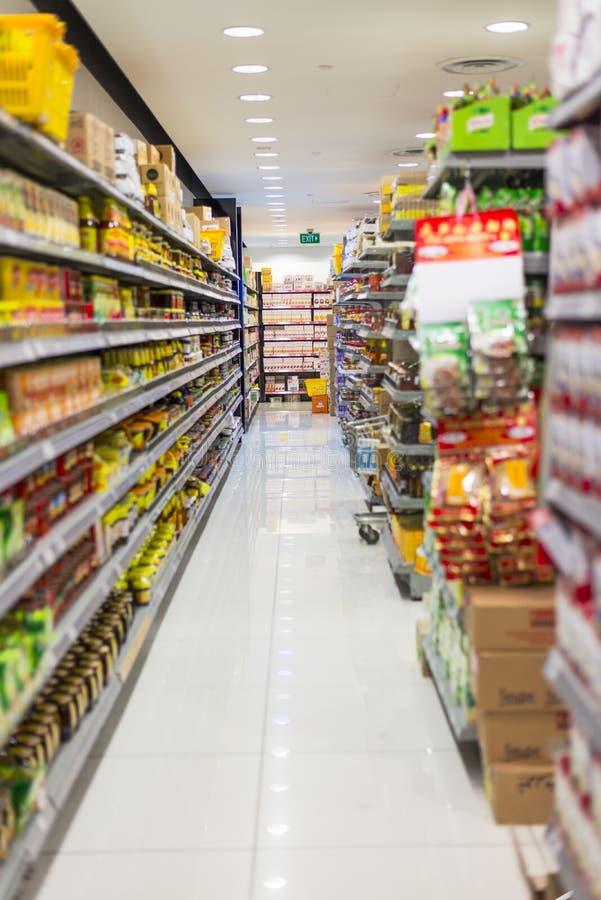 Corredor do supermercado fotos de stock