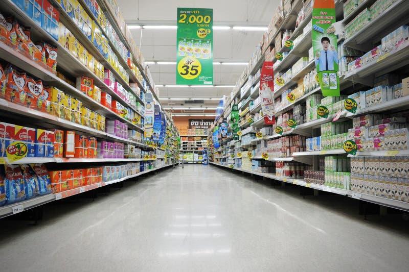 Corredor do supermercado foto de stock