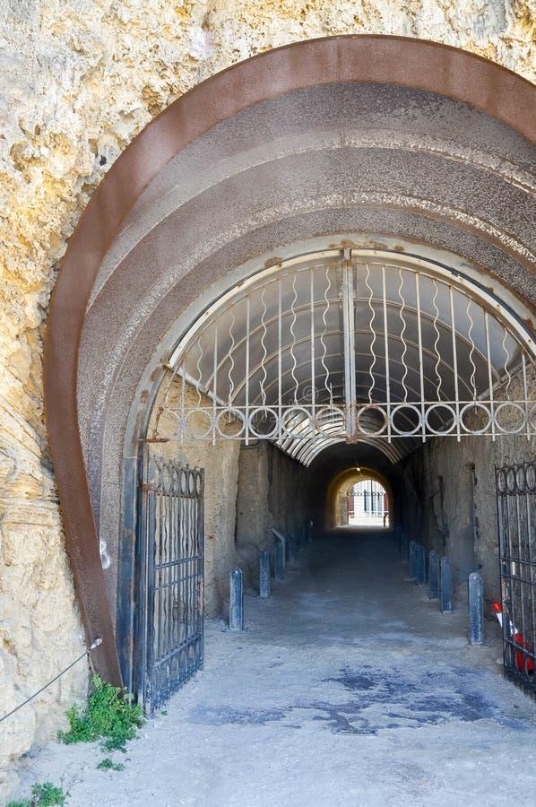 Corredor do túnel do baleeiro: Fremantle, Austrália Ocidental foto de stock