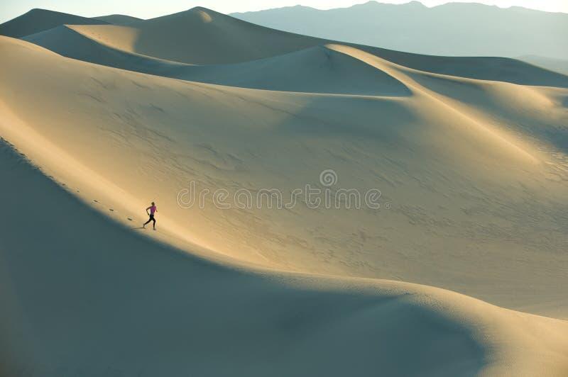 Corredor en las dunas fotos de archivo