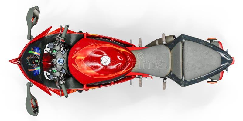 Corredor estupendo de la motocicleta ninguna marca stock de ilustración