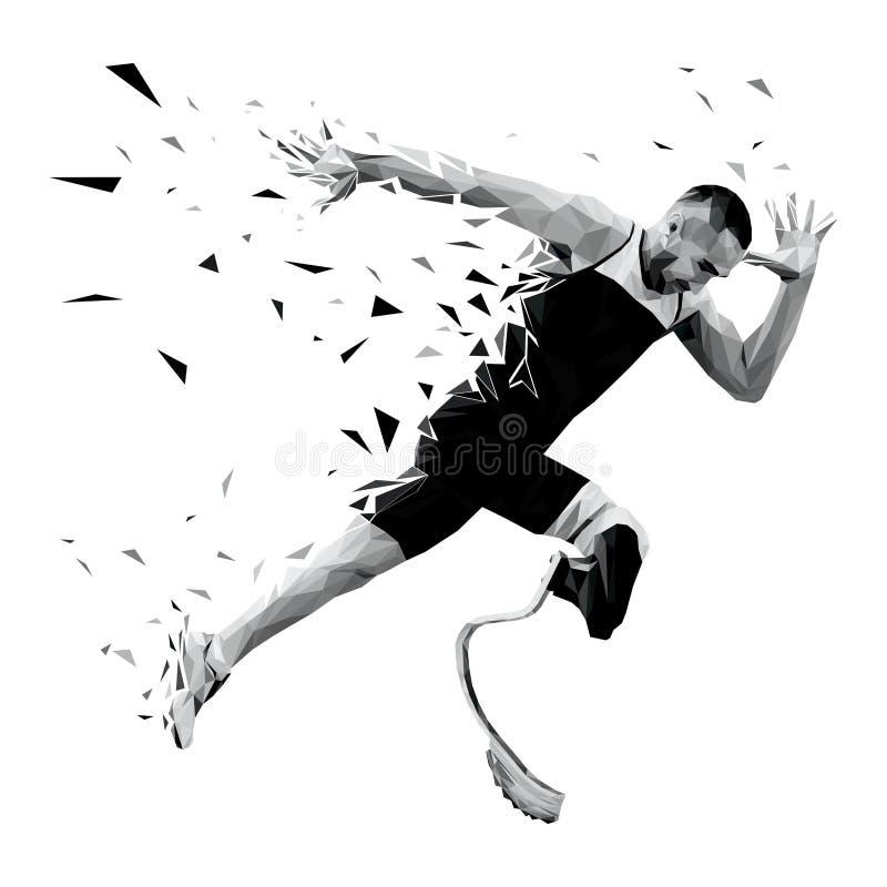 corredor explosivo do atleta do começo ilustração royalty free