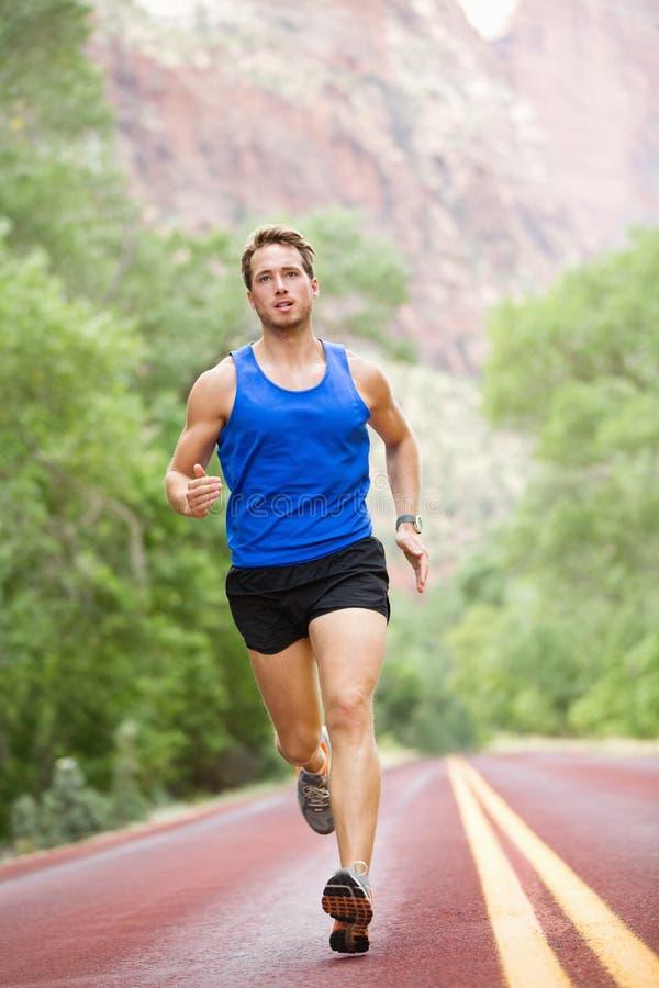 Corredor - homem de corrida do atleta imagem de stock