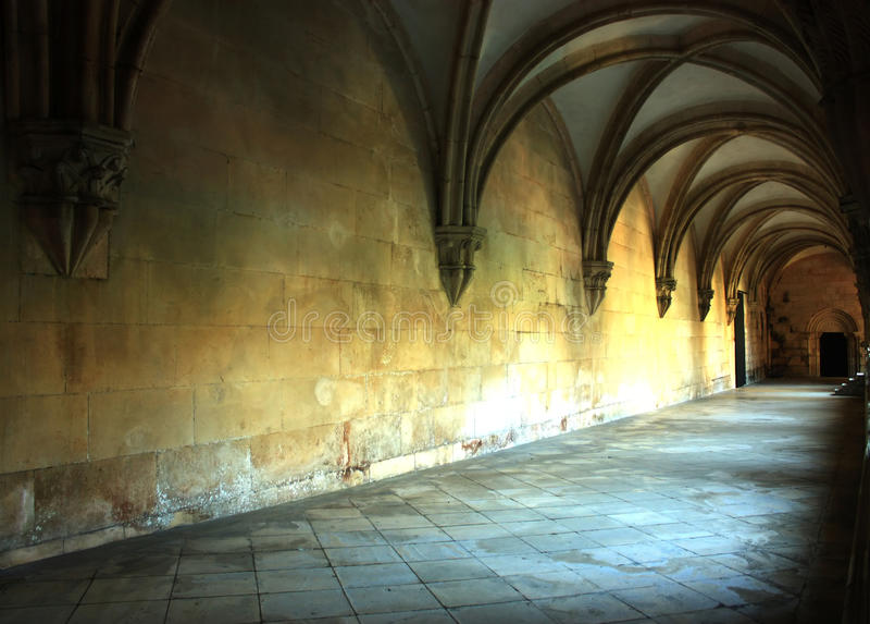 Corredor medieval fotografia de stock