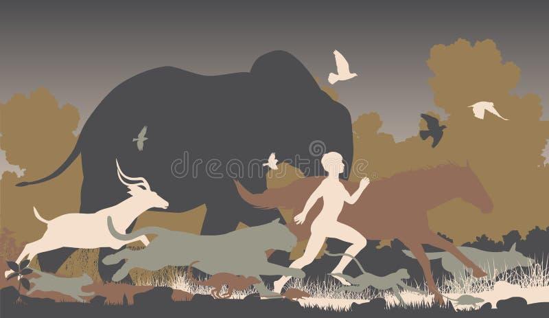 Corredor natural ilustração royalty free