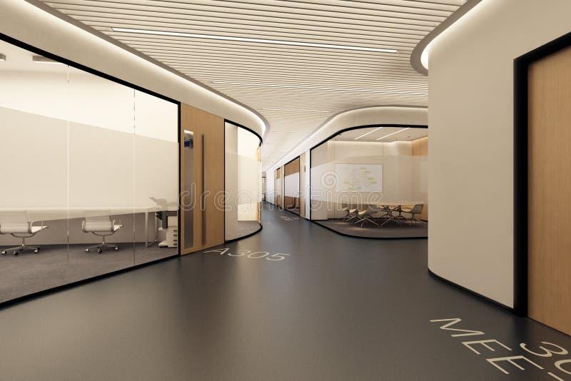 Corredor no edifício moderno ilustração do vetor