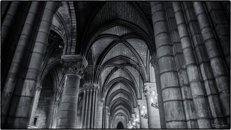 Corredor norte, Notre Dame de Paris imagens de stock