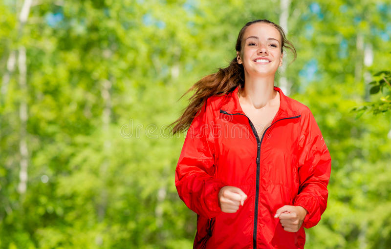 Corredor novo saudável do atleta fêmea fotografia de stock