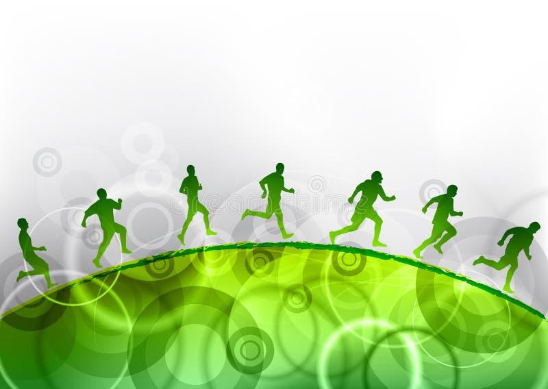 Corredor verde ilustração do vetor