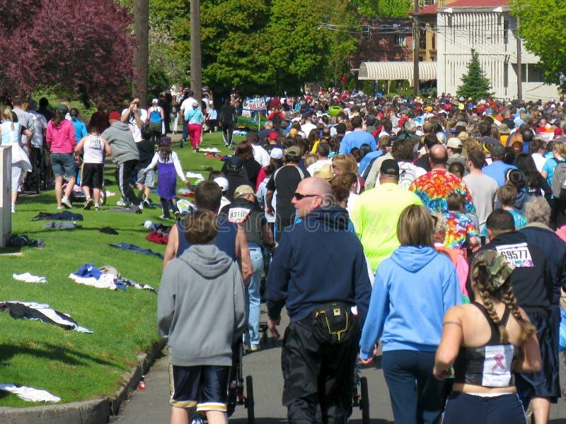 Corredores 2010 de Spokane Bloomsday foto de archivo