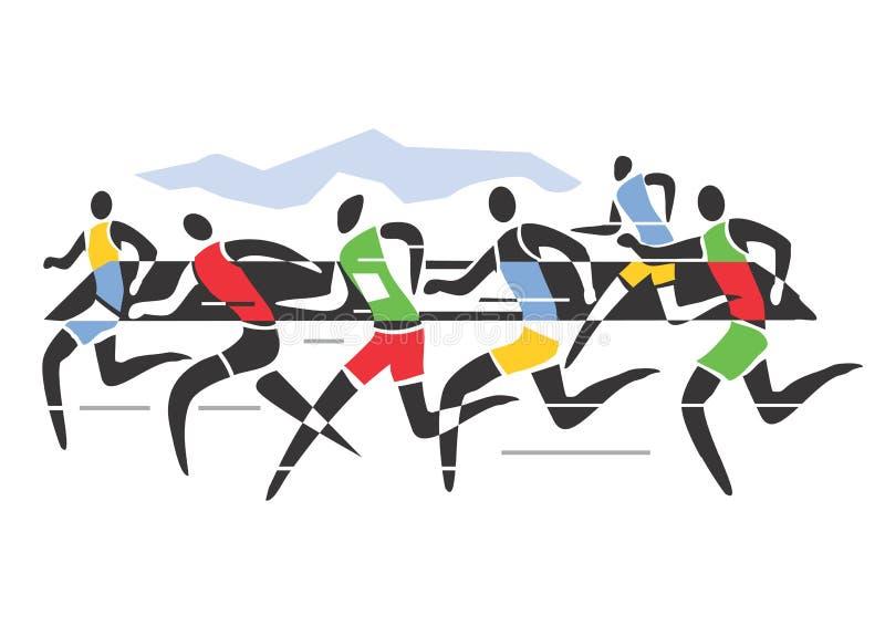 Corredores de maratón libre illustration
