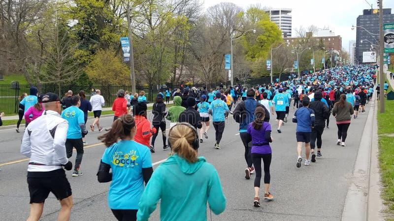 Corredores en la calle de Toronto fotos de archivo