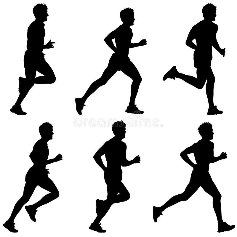 Corredores na sprint, homens ilustração royalty free