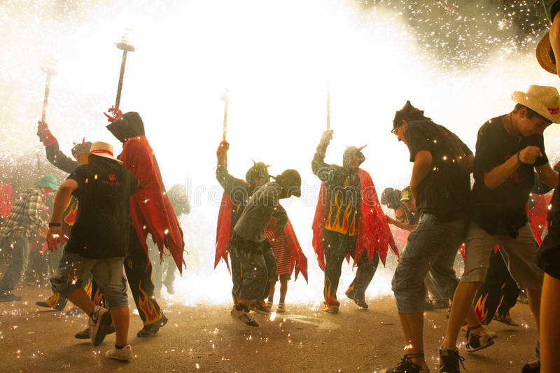 Correfoc royalty free stock images