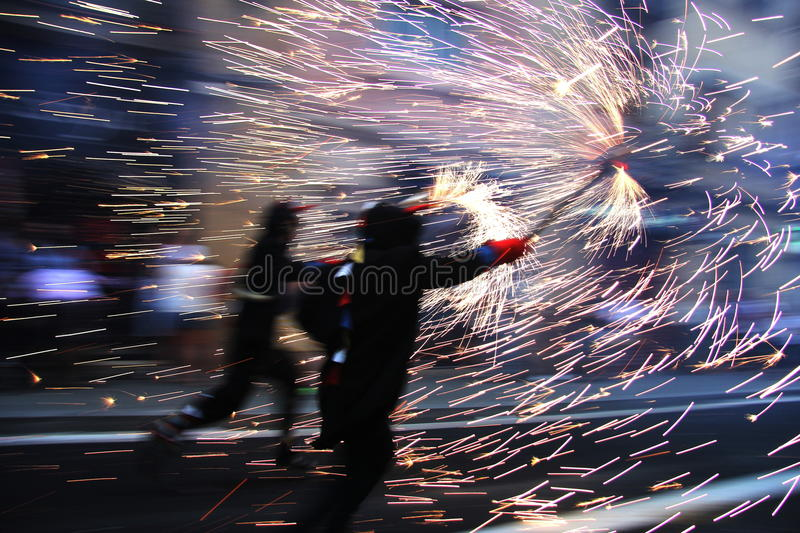 Correfoc stock photography