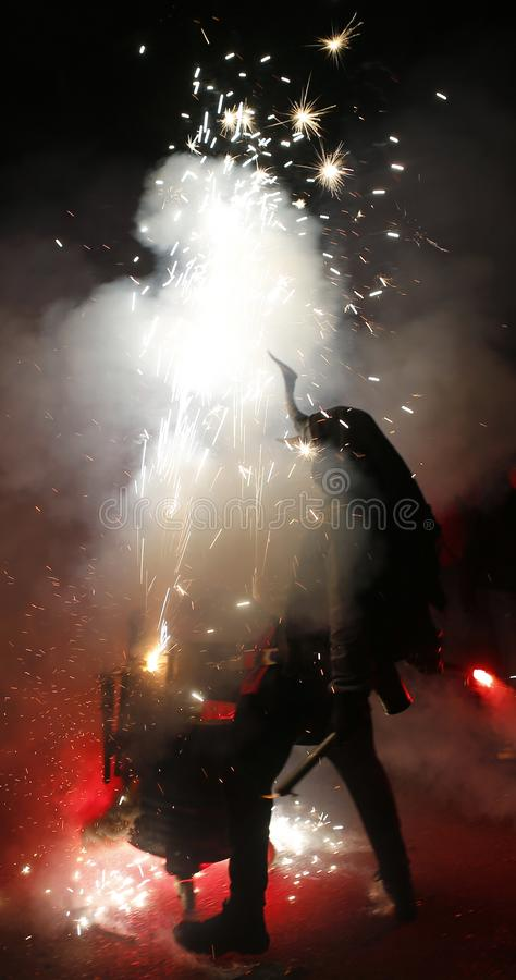 Free Correfoc Scene Stock Photos - 137409113