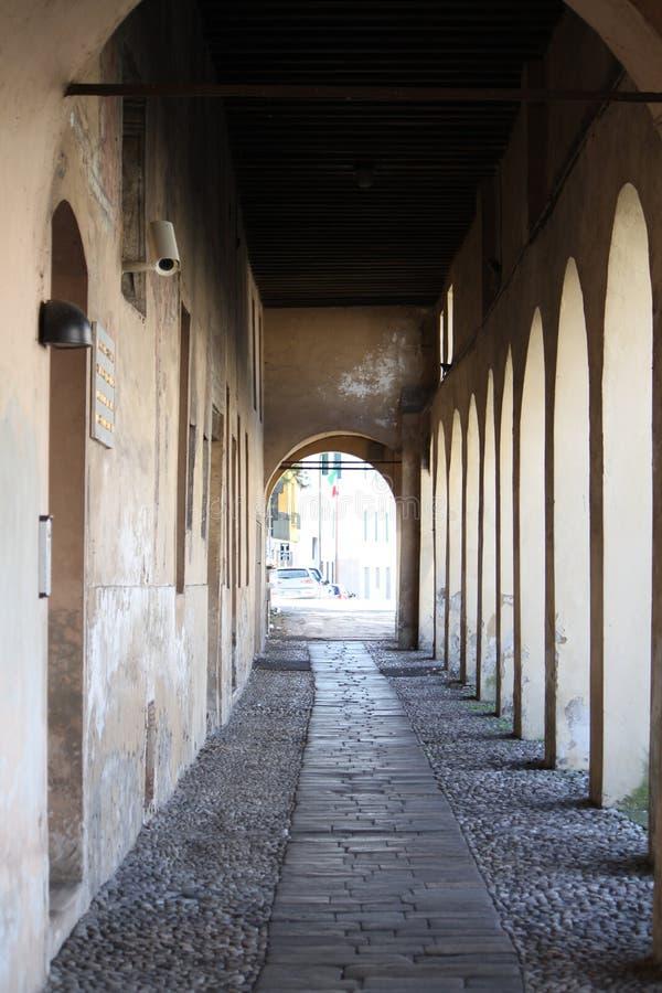 correggio报道了意大利结构 免版税库存照片