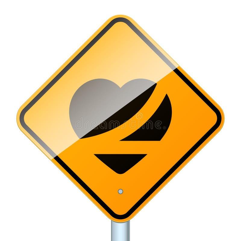 Correia acima do sinal de estrada isolado ilustração do vetor