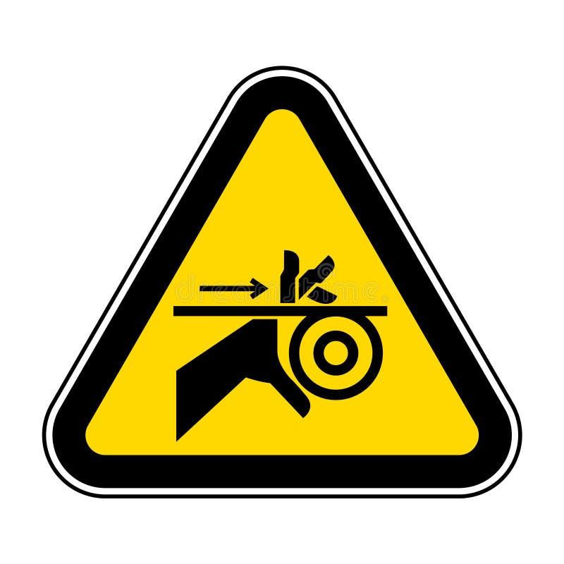 Correia da complica??o da m?o e sinal do s?mbolo dos rolos, ilustra??o do vetor, isolado na etiqueta branca do fundo EPS10 ilustração royalty free