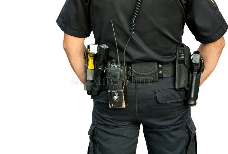 Correia de arma vestindo do agente da polícia imagens de stock royalty free