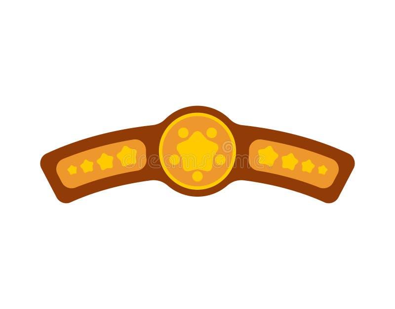 Correia de campeão Concessão para o competiam de vencimento do encaixotamento championship ilustração royalty free