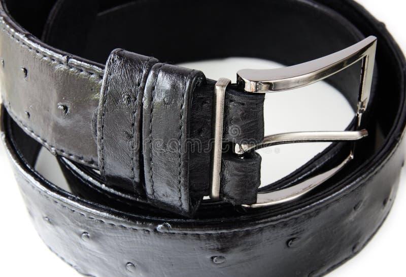 Correia de couro preta imagens de stock