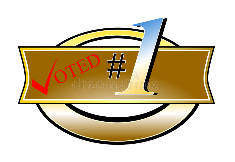 Correia votada do número um ilustração do vetor