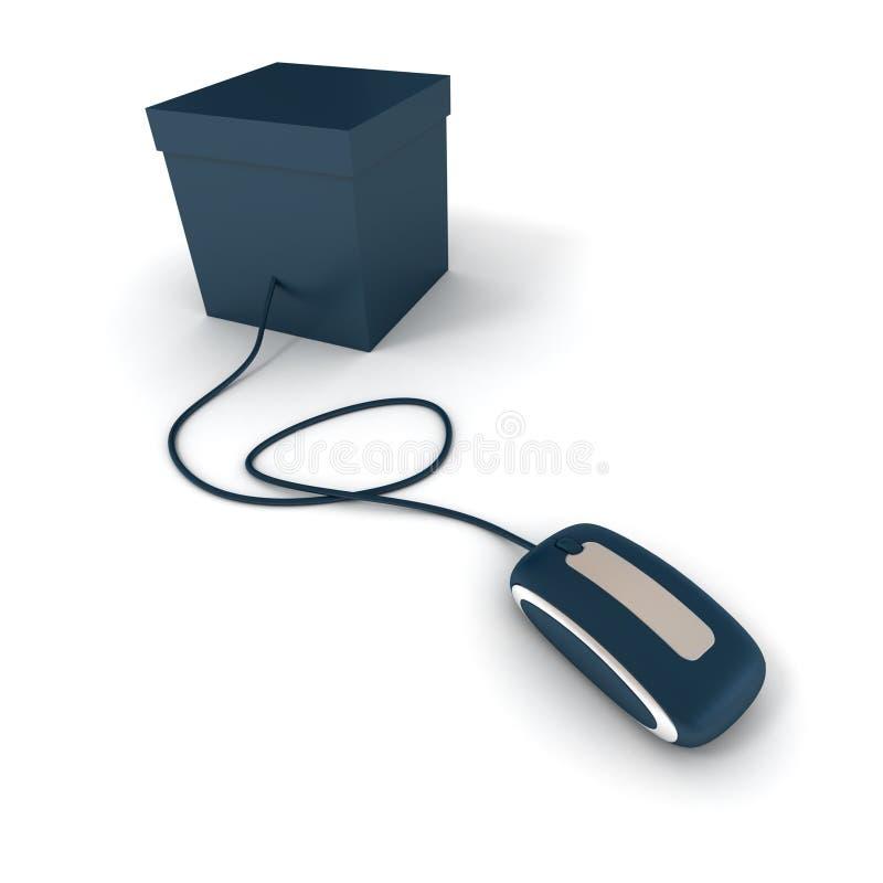 Download Correio azul na linha ilustração stock. Ilustração de emita - 10067609