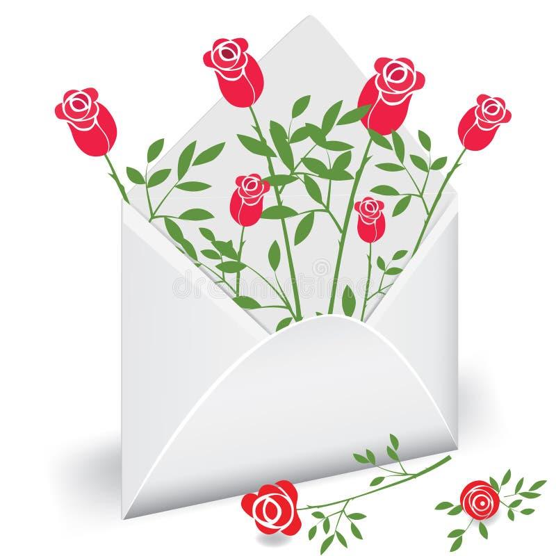 Correio da flor ilustração do vetor