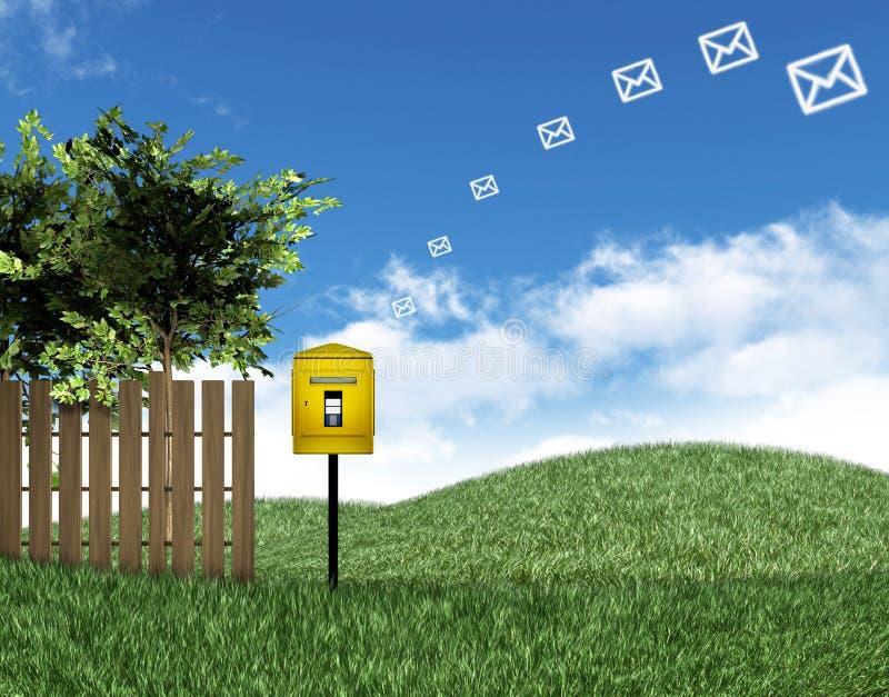 Correio e caixa postal ilustração royalty free