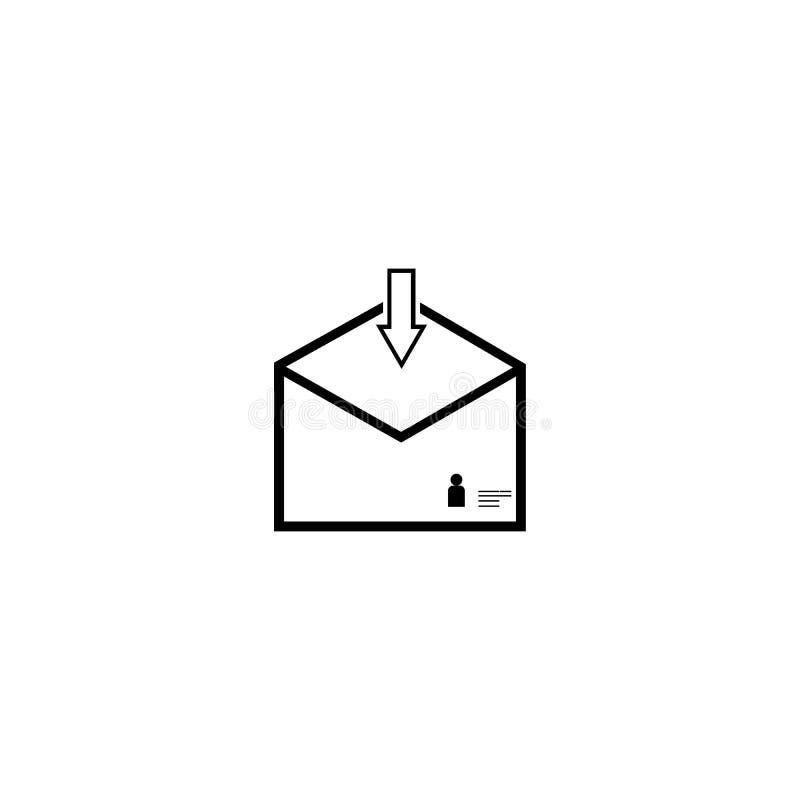 correio ilustração royalty free