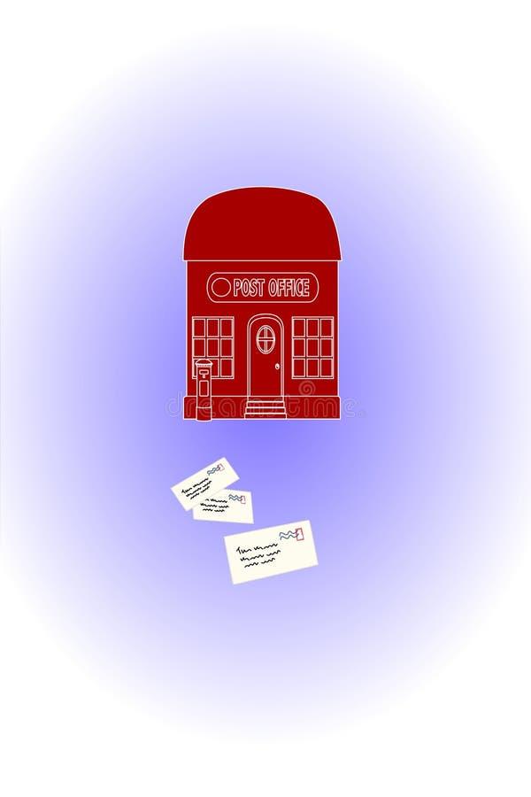 Correio postal vermelho ilustração royalty free