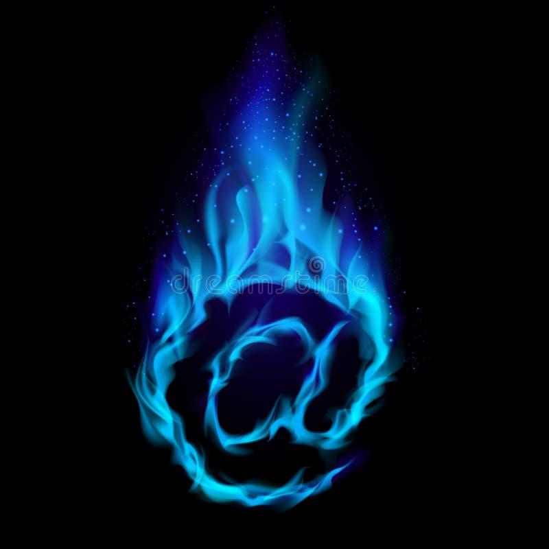 Correio quente azul ilustração do vetor