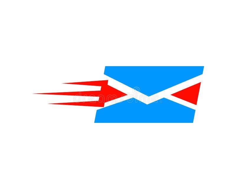 Correio rápido Logo Design Template ilustração do vetor