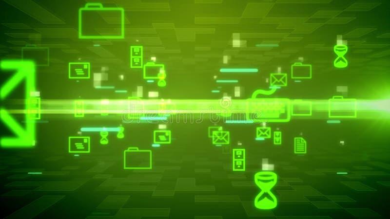 Correios eletrônicos abstratos no Cyberspace ilustração do vetor
