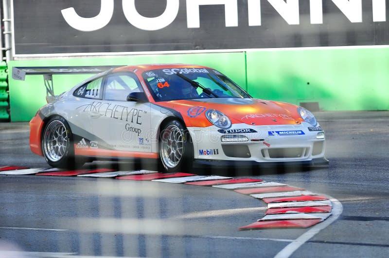 Correndo alla tazza Asia 2010 della Porsche Carrera fotografie stock libere da diritti