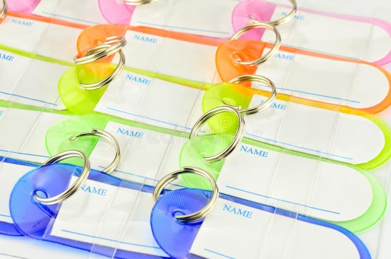Corrente chave colorida com espaço para o texto imagens de stock