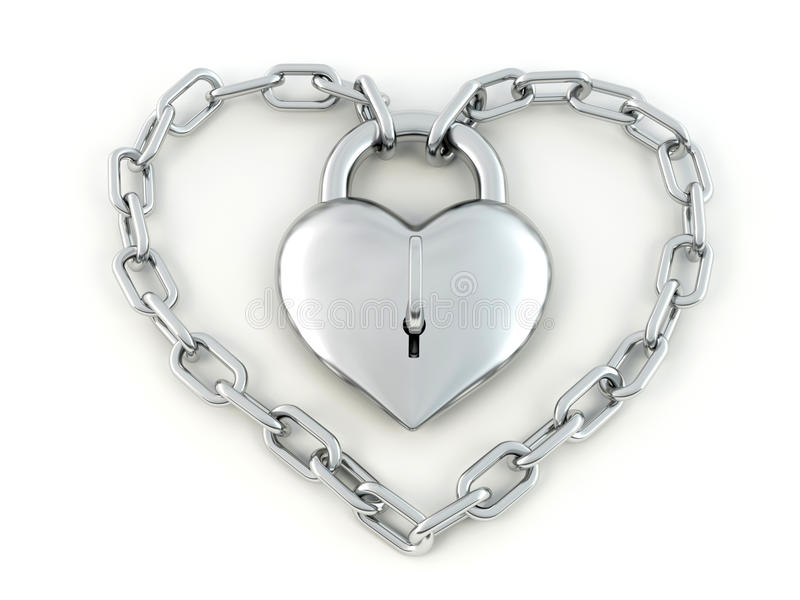 Corrente com o fechamento como o coração ilustração royalty free