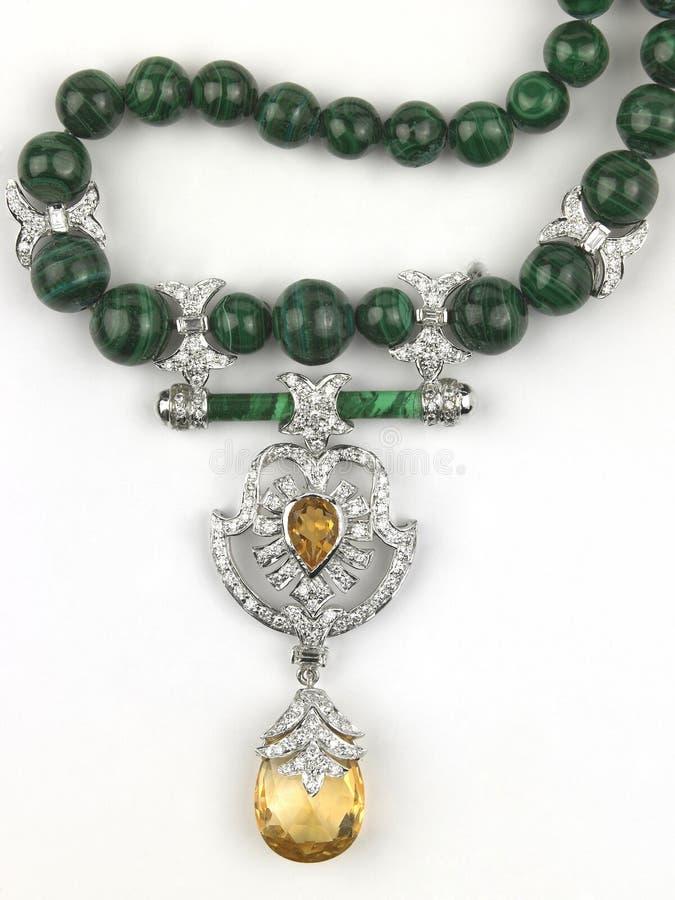 Corrente das esmeraldas foto de stock royalty free