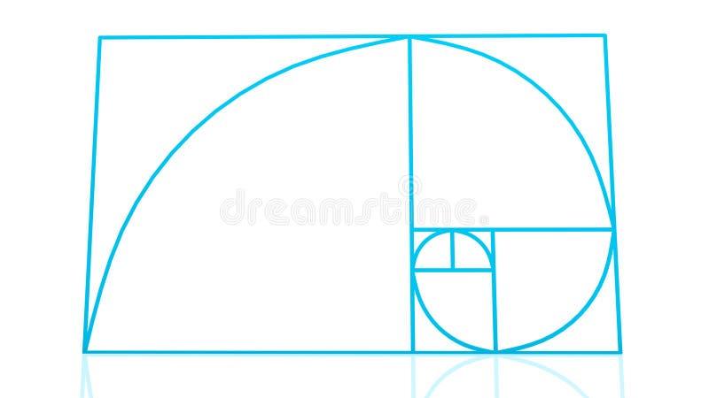 Corrente de Fibonacci ilustração stock